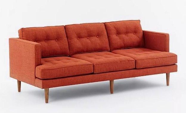 کاناپه سه نفره نارنجی