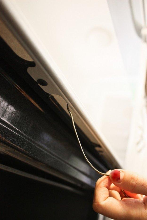 بند رخت آویز برای نظافت فر