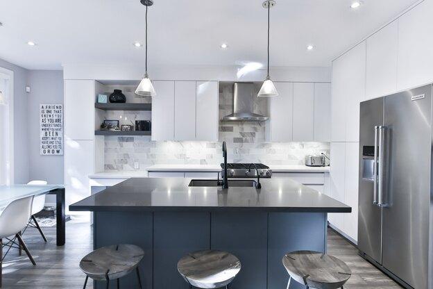 طرح استیل برای طراحی کابینت آشپزخانه