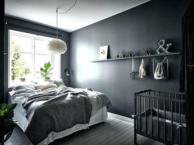 رنگ خاکستری اتاق خواب