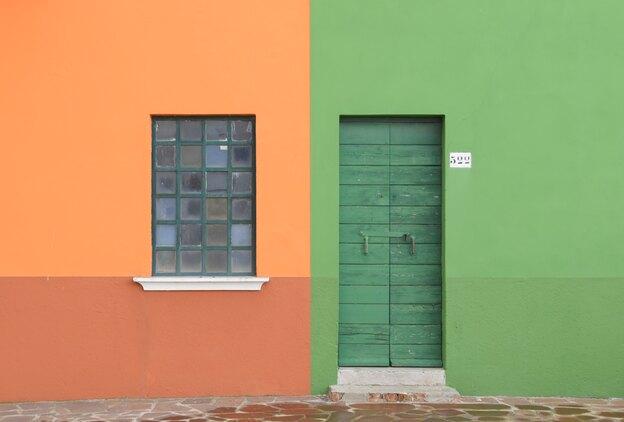 ترفندهای نقاشی ساختمان: دیوار دورنگ