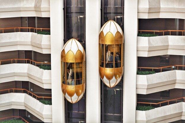 انواع آسانسور شیشه ای نما