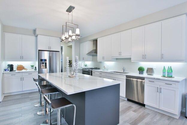 کابینت آشپزخانه خاکستری: محبوب روز