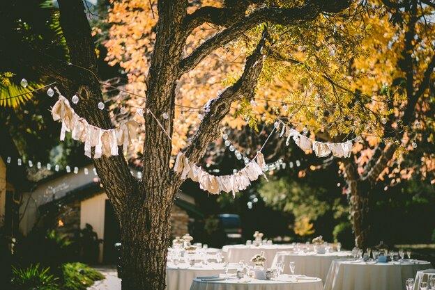 مراسم عروسی با تم پاییزی