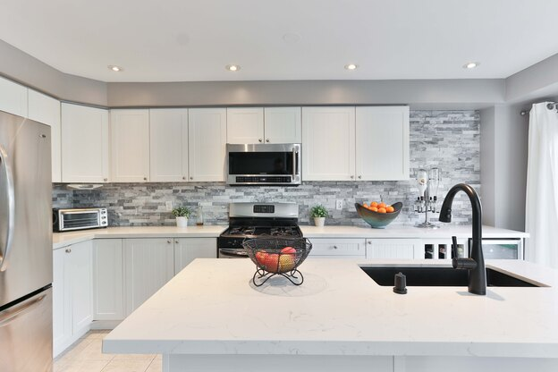 رنگ سفید مناسب برای کابینت آشپزخانه